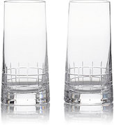 Christofle Set Of 2 Graphik Highball Glasses
