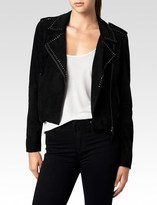 Paige Claris Jacket - Black Suede
