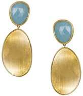 Marco Bicego 18K Yellow Gold Lunaria Two Drop Aquamarine Earrings