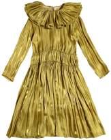 Nikolia Ruffled Satin Dress