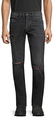 Hudson Axl Distress Skinny Jeans