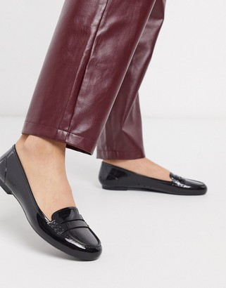 ASOS DESIGN Memorable jelly loafer in black