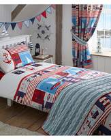Fashion World Maritime Quilted Throw Over