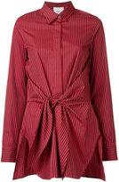 3.1 Phillip Lim front tied stripe shirt - women - Cotton/Silk - 4