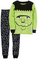 Carter's Toddler Boy Halloween Frankenstein Top & Bottoms Pajama Set