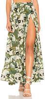 Free People Hot Tropics Maxi Skirt in Green