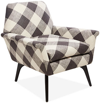Kim Salmela Rowan Accent Chair - Black Plaid