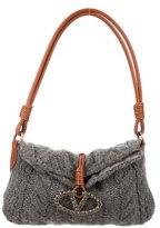 Valentino Embellished Cablie Knit Bag