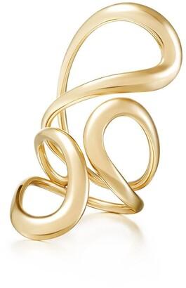 Melissa Kaye 18kt yellow gold Aria Jane large ring