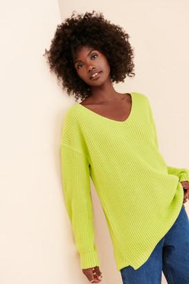 Glamorous Deep Scoop Pullover