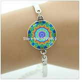 Nobrand No brand Moroccan fashion jewelry Charms yoga Jewelry flower bracelet Mandala Jewelry personalized gift for women
