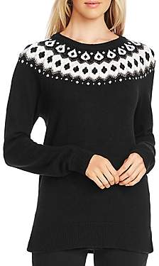Vince Camuto Fair Isle Detail Sweater
