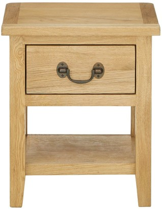 Luxe Collection London Oak Lamp Table