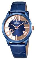Lotus Women's Quartz Watch with Blue Dial Analogue Display and Blue Leather Strap 18307/1