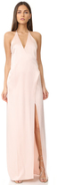 Halston V Neck Slip Gown with T Back