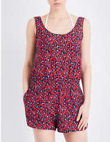 Stella McCartney Animal cotton and silk-blend playsuit
