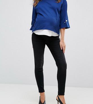 GeBe Maternity premium over-the-bump skinny jeans in black