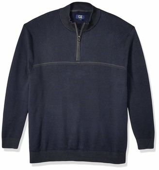 Cutter & Buck Men's Big-Tall Addison Half Zip Sweater
