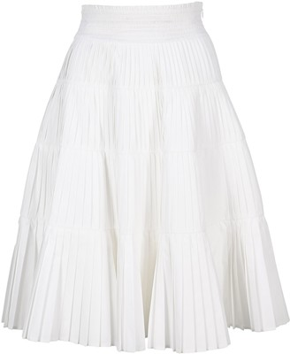 Prada Pleated Flared Skirt
