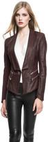 LAMARQUE - Cersei Leather Blazer In Burgundy