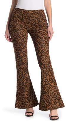 Blank NYC BLANKNYC Denim Leopard Print Flared Leg Jeans