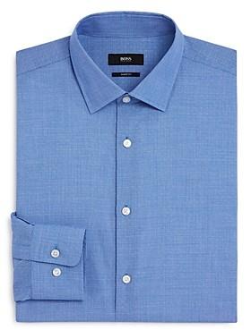 HUGO BOSS Dobby Dot Regular Fit Dress Shirt