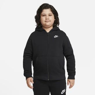 Nike Big Kids' (Boys') Full-Zip Hoodie (Extended Size Sportswear Club Fleece