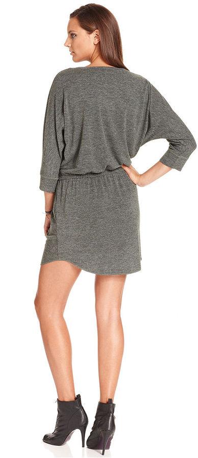 Rachel Roy Dress, Three-Quarter Scoop-Neck Sweatshirt