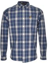 Lyle & Scott Long Sleeved Check Shirt Blue