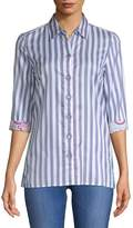 Robert Graham Women's Tori Striped Cotton Button-Down Shirt