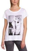 Eleven Paris Women's LOUPER W WOMEN Animal print Round Collar Short sleeve T-Shirt - -