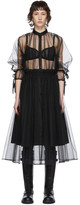 Noir Kei Ninomiya Black Tulle Upper Shirt Dress
