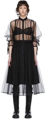 Noir Kei Ninomiya Black Tulle Upper Shirt Dress