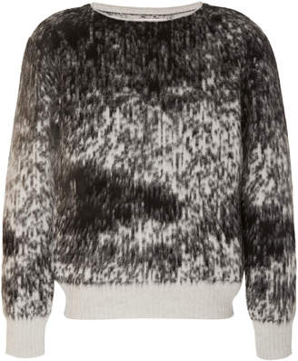 Rochas Intarsia Wool and Angora-Blend Sweater