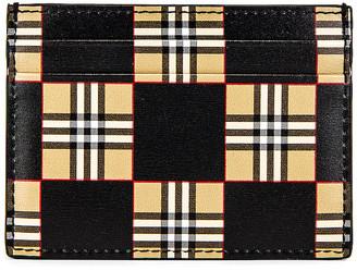 Burberry Sandon Card Holder in Beige | FWRD