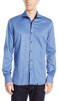 Stone Rose Men's Textured Stripe Long Sleeve Button Down Shirt