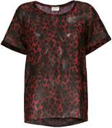 Saint Laurent semi-sheer T-shirt