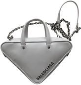 Balenciaga Triangle White Leather Handbags