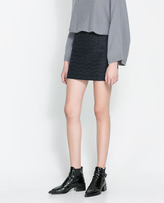 Zara Skirt With Faux Leather Piping