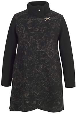 chesca Chesca Cable Collar Baroque Coat, Black