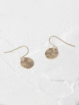 White Stuff Poetry coin earring