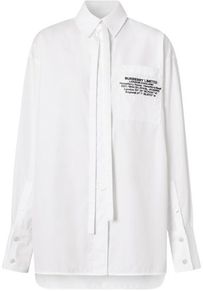 Burberry Cotton Location Print Shirt