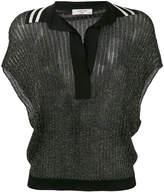 Lanvin short sleeve knitted blouse