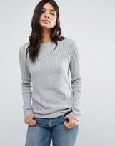 Brave Soul Diagonal Rib Sweater