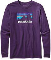 Patagonia Men's Long-Sleeved Shop Sticker Cotton T-Shirt