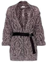 Brunello Cucinelli Wool and mohair-blend belted cardigan