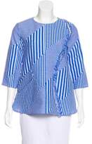 Lisa Perry Fringe-Accented Striped Top