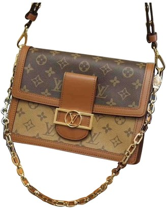 Louis Vuitton Dauphine MM Brown Leather Handbags