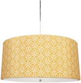"Inhabit Fabric Drum Shade Pendant Lamp, 20""x9"", Luffa in Sunset"