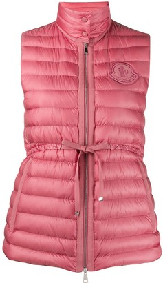 Moncler Drawstring-Waist Quilted Down Gilet